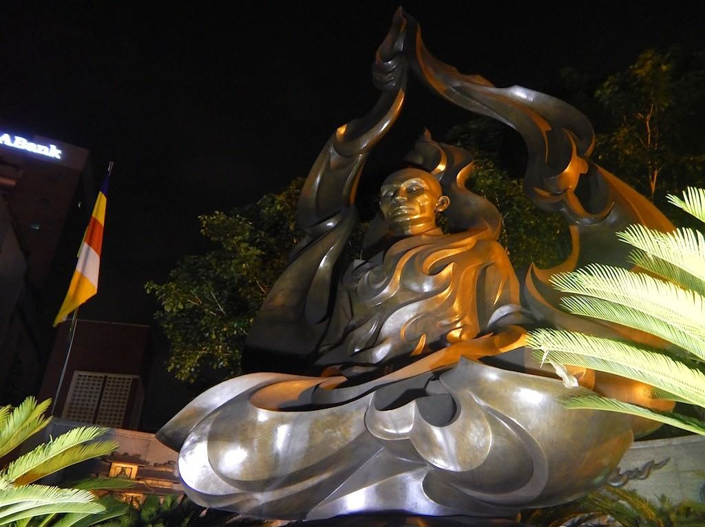 The Burning Monk memorial in Saigon Vietnam Ho Chi Minh