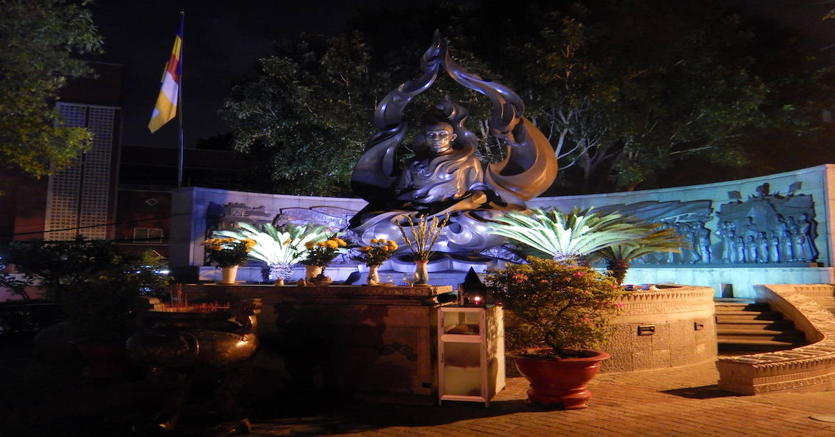 Read about the Burning Monk Memorial in Saigon, Vietnam. On June 11, 1963, Thich Quang Duc set himself on fire