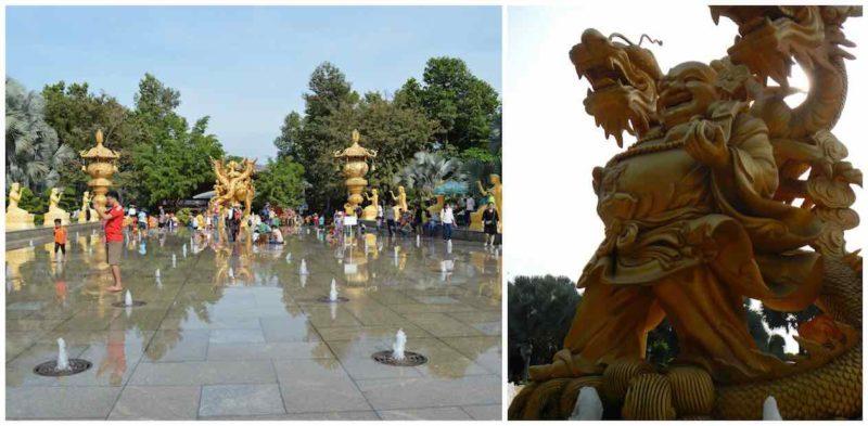 Gold Maitreya at Suoi Tien in Ho Chi Minh City Vietnam Saigon