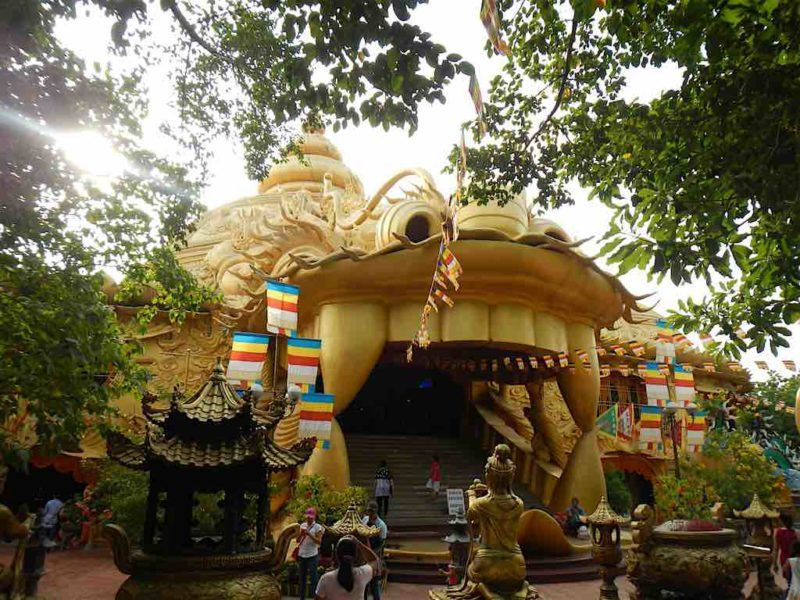 There's a Real Temple in this Dragon Head. at Suoi Tien in Ho Chi Minh City Vietnam Saigon