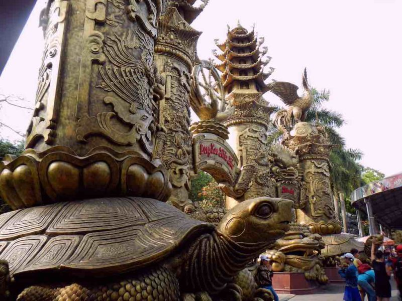 Elaborate Gate to Dragon Head Temple at Suoi Tien in Ho Chi Minh City Vietnam Saigon