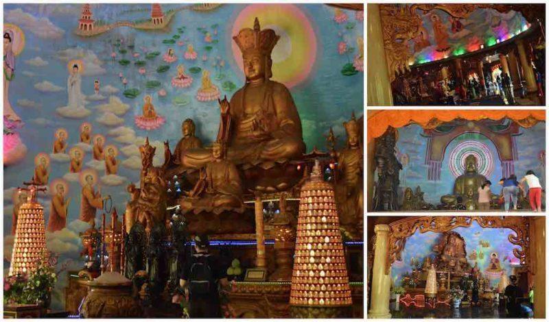 The Altars of Dragon Temple at Suoi Tien in Ho Chi Minh City Vietnam Saigon