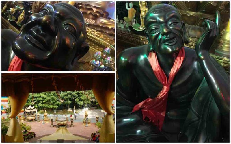 Hip Buddhist Statues – View From Dragon's Mouth at Suoi Tien in Ho Chi Minh City Vietnam Saigon