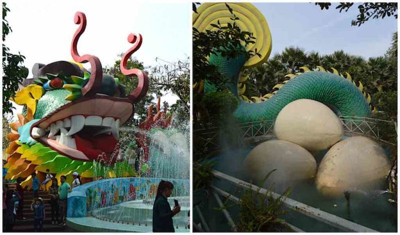 400 meter Dragon – Dragon Eggs at Suoi Tien in Ho Chi Minh City Vietnam Saigon