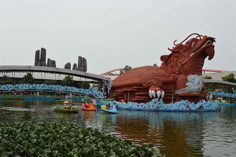 Turtle-Dragon Hybrid at Suoi Tien in Ho Chi Minh City Vietnam Saigon