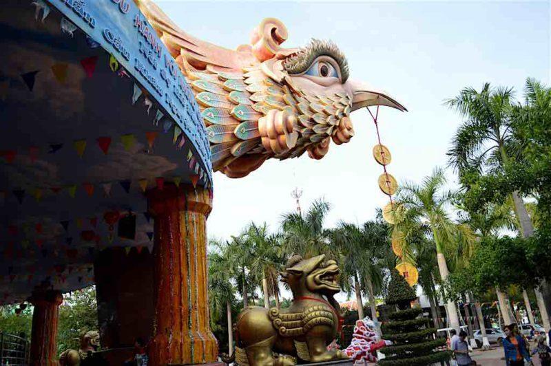 """Giant Peacock""at Suoi Tien in Ho Chi Minh City Vietnam Saigon"
