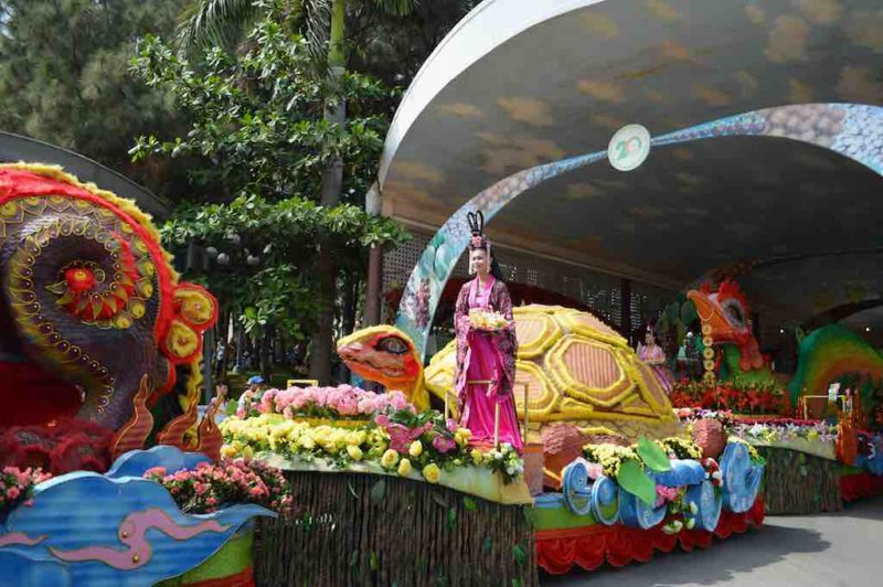 Parade of Mythological Creatures at Suoi Tien in Ho Chi Minh City Vietnam Saigon