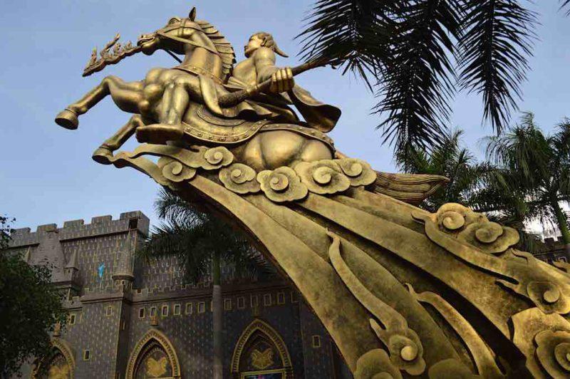 Saint Giong Riding His Iron Horse to Heavenat Suoi Tien in Ho Chi Minh City Vietnam Saigon