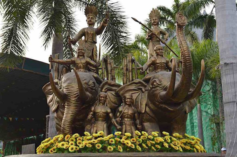 Vietnam's Legendary Women Warriors at Suoi Tien in Ho Chi Minh City Vietnam Saigon