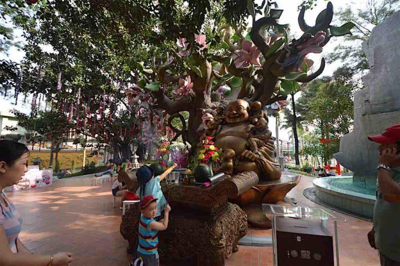 No Rollercoasters Until You Light Your Incense.at Suoi Tien in Ho Chi Minh City Vietnam Saigon