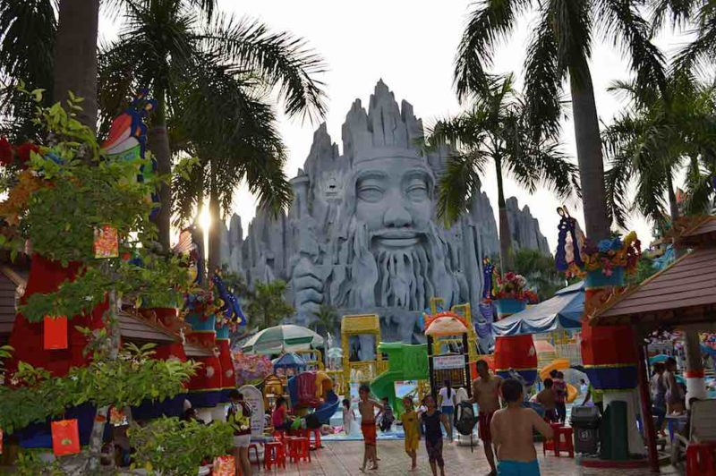 Vietnamese Mt. Rushmore?at Suoi Tien in Ho Chi Minh City Vietnam Saigon