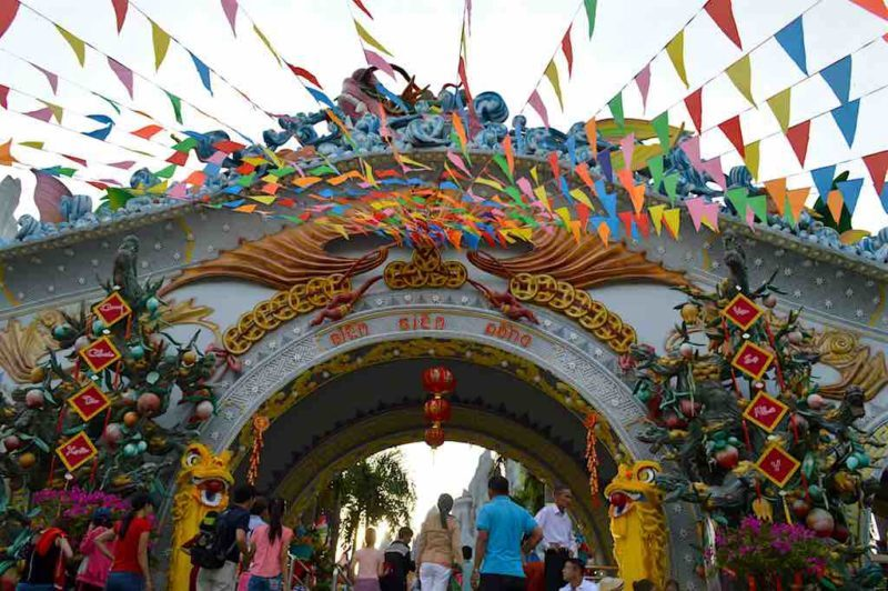 Vietnam's Wacky Buddhist Wonderlandat Suoi Tien in Ho Chi Minh City Vietnam Saigon