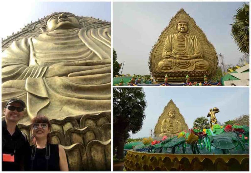 Meditating Buddha at Suoi Tien in Ho Chi Minh City Vietnam Saigon