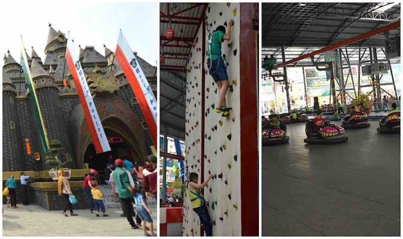 Harry Potter Knock-off, Rock Wall, and Bumper Cars at Suoi Tien in Ho Chi Minh City Vietnam Saigon