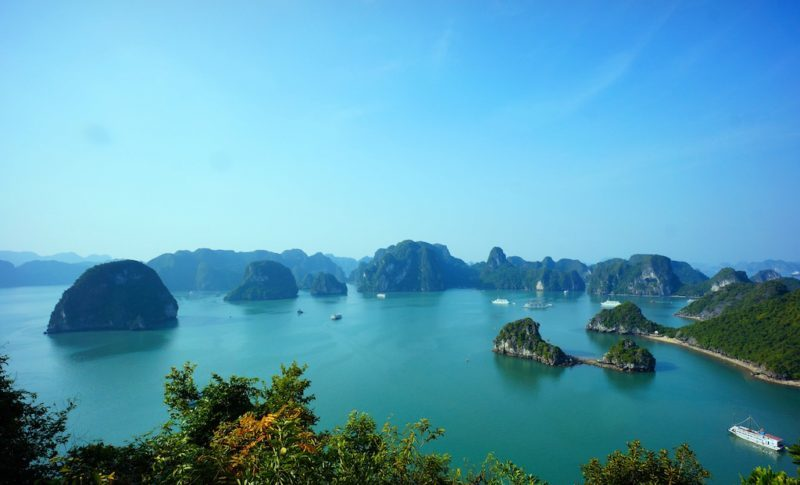 Halong Bay one of the best Vietnam destinations. Southeast Asia travel.