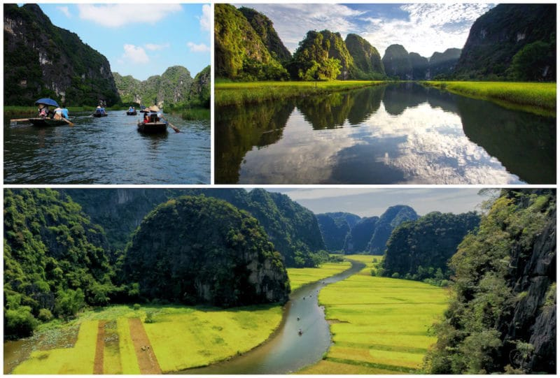 Tam Coc (Ninh Binh Province) is one of the best Vietnam destinations. Southeast Asia travel. North Vietnam