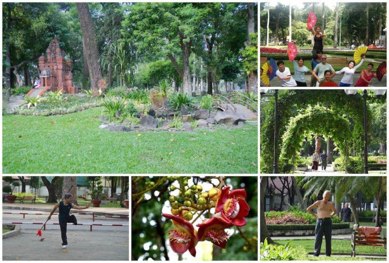 Things to do in Saigon, Vietnam. Tao Dan Park in Ho Chi Minh City in Southeast Asia