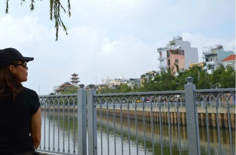 Things to do in Saigon, Vietnam. Canal Walk in Ho Chi Minh City in Southeast Asia