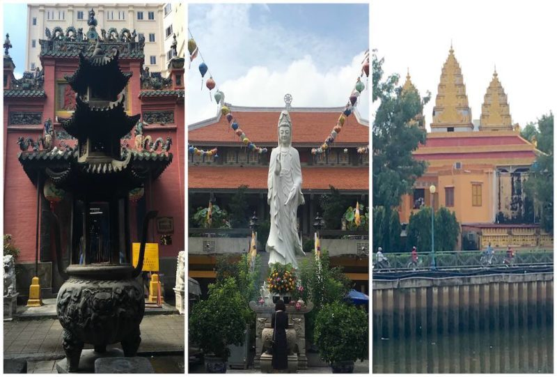 Things to do in Saigon, Vietnam. Pagodas and Temples in Ho Chi Minh City in Southeast Asia