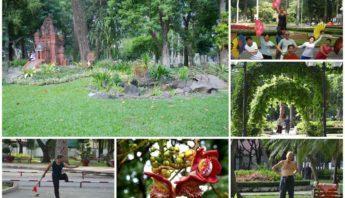 Tao Dan Park in Saigon. Ho Chi Minh City in South Vietnam