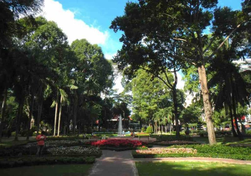 Park in Ho Chi Minh City in South Vietnam.