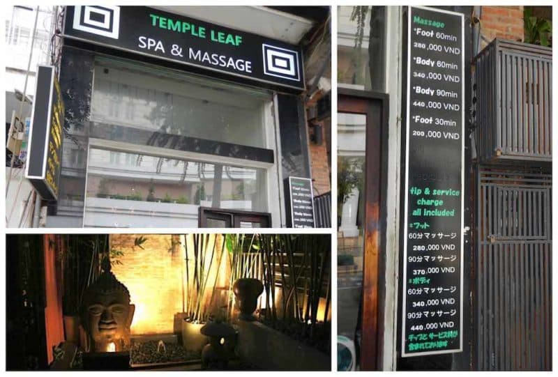 Temple Leaf Spa in Ho Chi Minh City. Saigon Spas in South Vietnam Asia