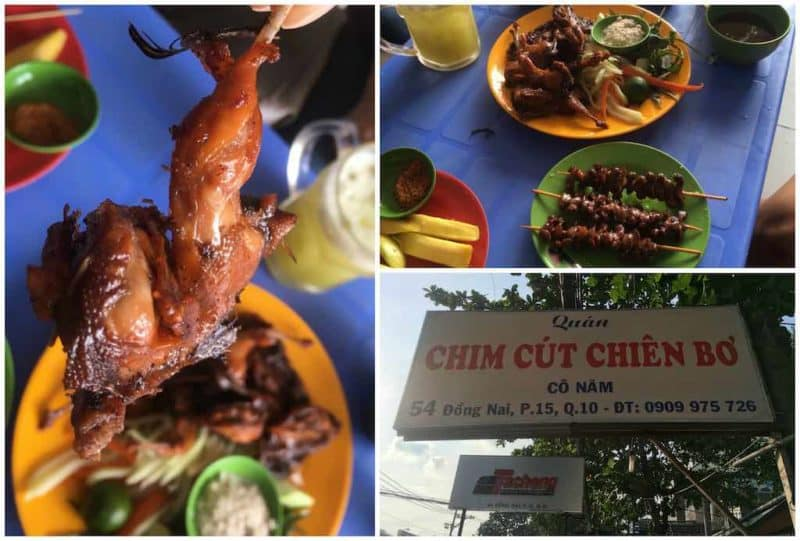 Chim Cut Chien BoBest Restaurants in Ho Chi Minh City also known as Saigon in South Vietnam Southeast Asia