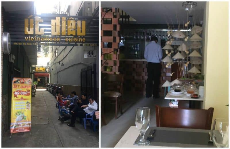 Ut DieuBest Restaurants in Ho Chi Minh City also known as Saigon in South Vietnam Southeast Asia