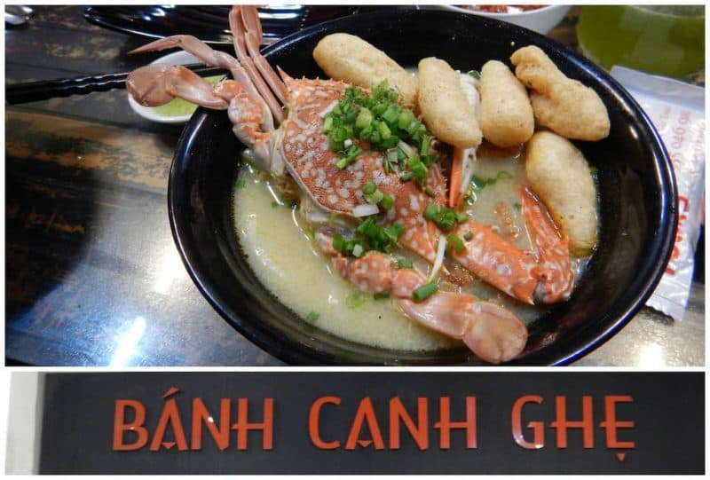 Banh Canh Ghe - Muoi Ot XanhBest Restaurants in Ho Chi Minh City also known as Saigon in South Vietnam Southeast Asia