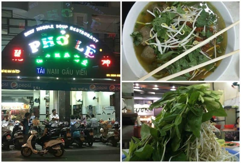 Pho LeBest Restaurants in Ho Chi Minh City also known as Saigon in South Vietnam Southeast Asia