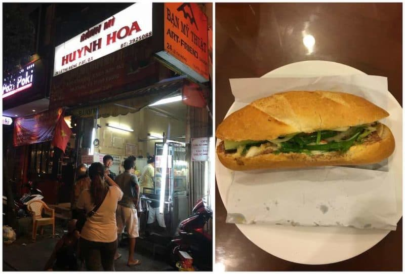 Banh Mi Huynh Hoa Best Restaurants in Ho Chi Minh City also known as Saigon in South Vietnam Southeast Asia